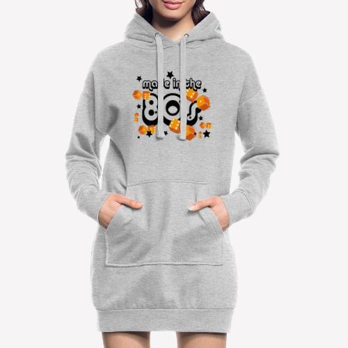 Made in the 80s – Orange - Hoodie-Kleid