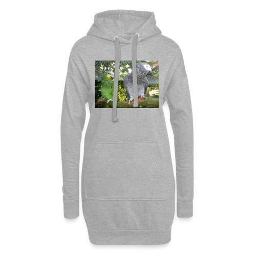 Amazone og grå - Hoodie-kjole