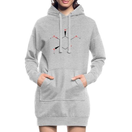 Xylose Molecule - Colored Structural Formula - Hoodie-kjole