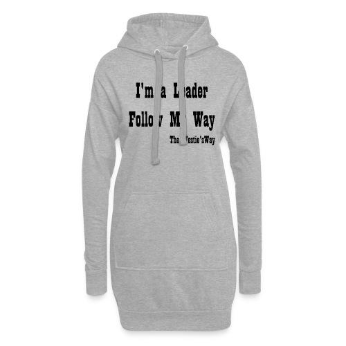 Follow My Way Black - Długa bluza z kapturem