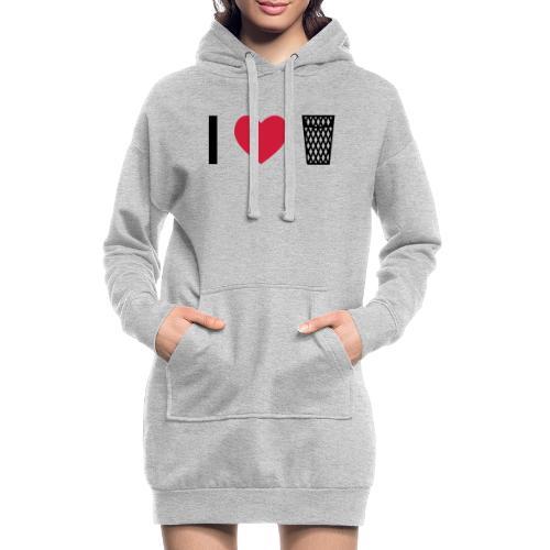 I love Äppler - Hoodie-Kleid