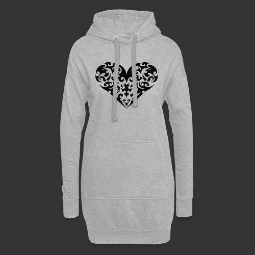 Herz - Hoodie-Kleid