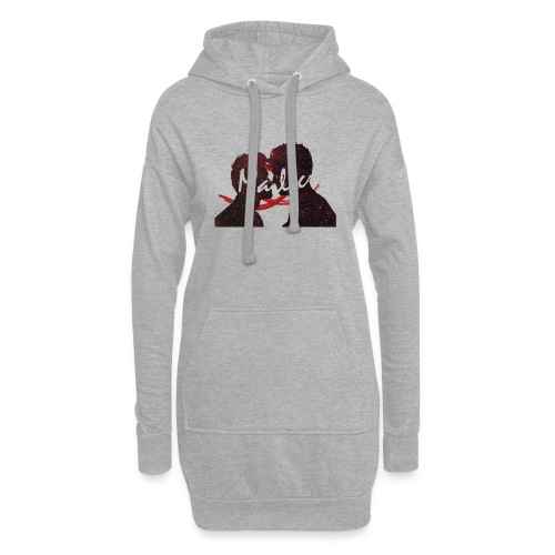 malec sillhouette design - Hoodie Dress