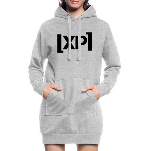 Klammelogo XP (sort) - Hoodie-kjole