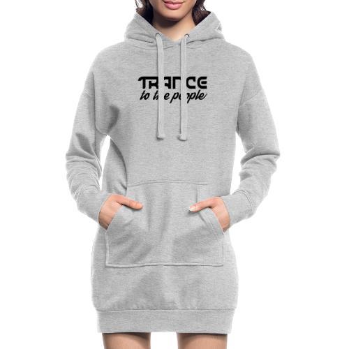 Trance to the People Sort Logo - Hoodie-kjole