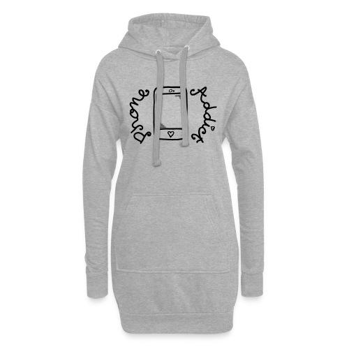 Phone addict ! - Sweat-shirt à capuche long Femme