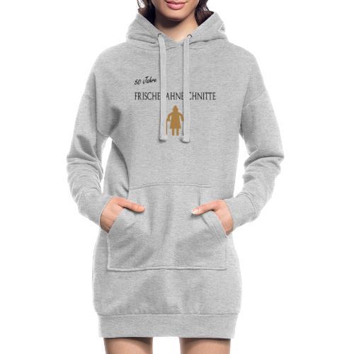 Alte Frau - Sahneschnitte - Hoodie-Kleid