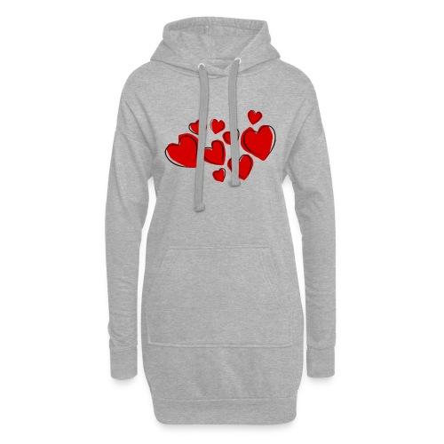 hearts herzen - Hoodie-Kleid