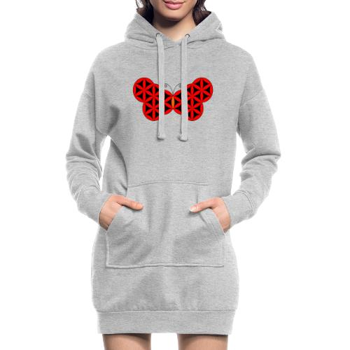 The Butterfly Of Life - Sacred Animals. - Hoodie Dress