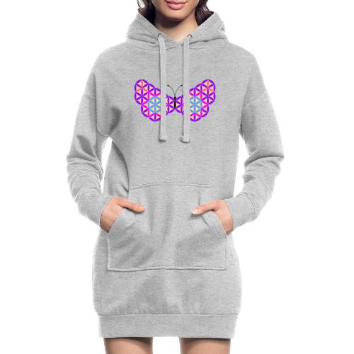 The Butterfly Of Life - Sacred Animals - Hoodie Dress
