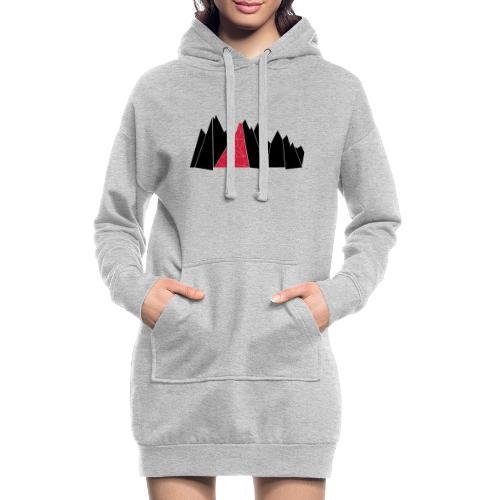 T-Shirt Mountains - Hoodie-Kleid
