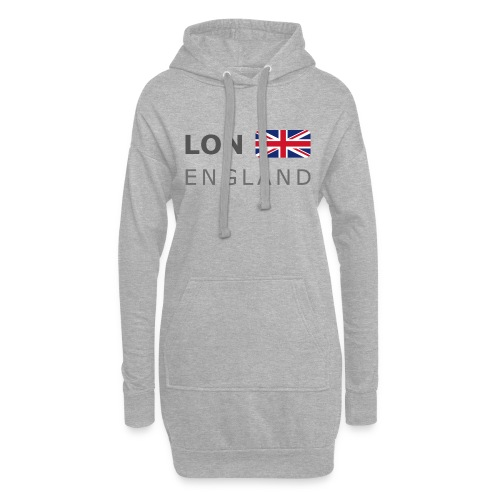 LON ENGLAND BF dark-lettered 400 dpi - Hoodie Dress