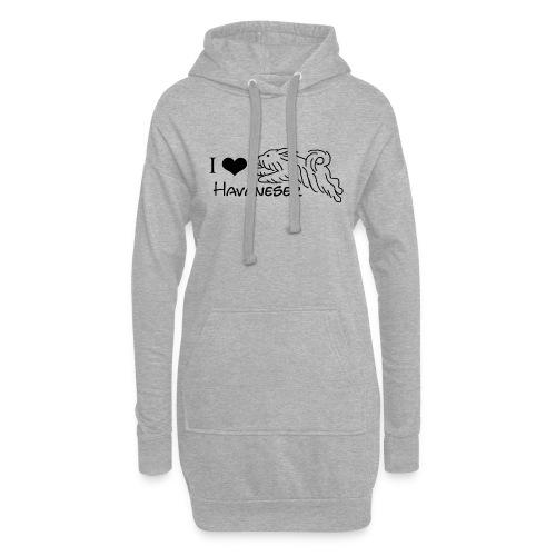 I LOVE HAVANESER - Hoodie-Kleid