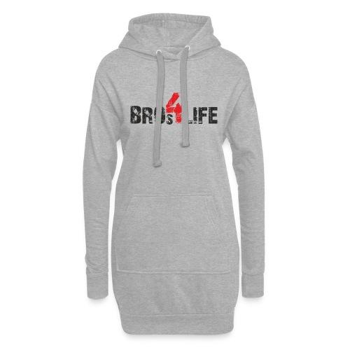 bros 4 life - black-red - Hoodie-Kleid