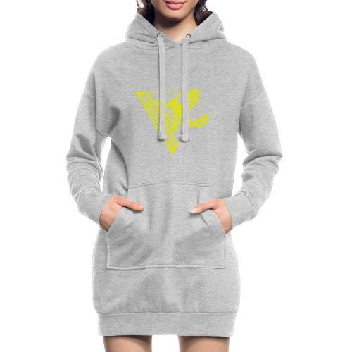 Logo Motoboquerones amarillo - Sudadera vestido con capucha
