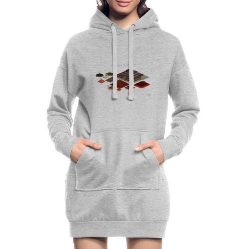 pyramides - Sweat-shirt à capuche long Femme
