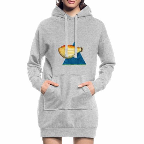 Grumpy fish - Sudadera vestido con capucha
