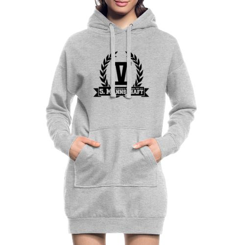 V mit College-Schriftzug - Schwarz - Hoodie-Kleid