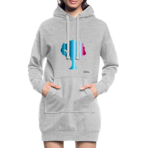 Warming stripes: Wir brauchen die Natur! - Hoodie-Kleid