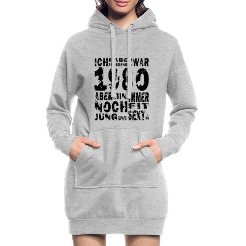 Sexy Jahrgang 1980 - Hoodie-Kleid