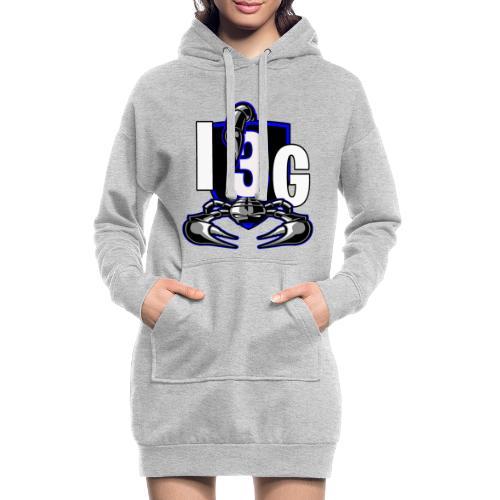 LOGO BLEU I3G - Sweat-shirt à capuche long Femme