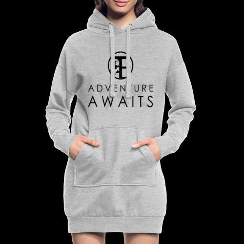 Travi's Edition / Adventure Awaits / Black - Hoodie-Kleid