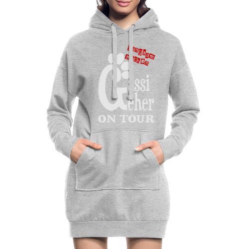 Gassigeher auf Tour - Langsam machen - Hoodie-Kleid
