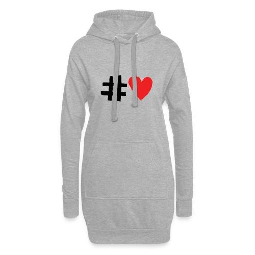 #Love - Hoodie-kjole