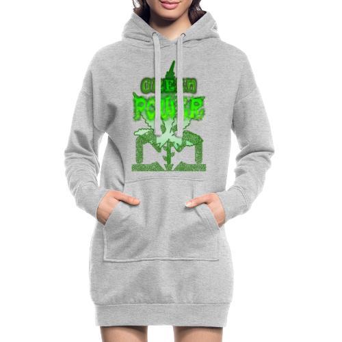 Green Power - Sweat-shirt à capuche long Femme