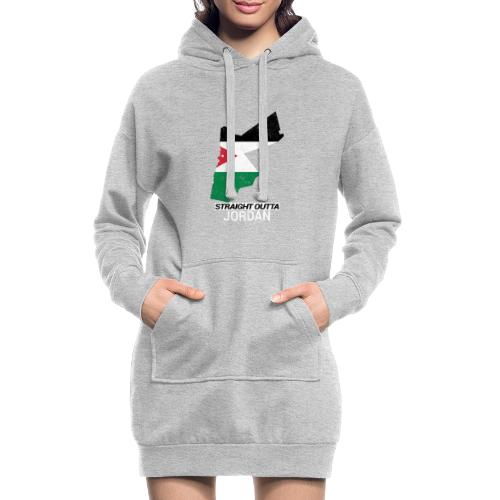 Straight Outta Jordan country map - Hoodie Dress