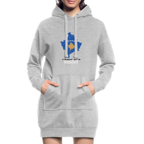 Straight Outta Kosovo country map - Hoodie Dress