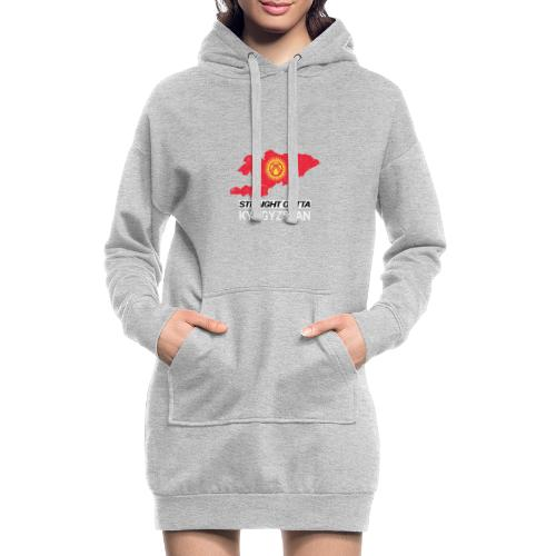 Straight Outta Kyrgyzstan country map - Hoodie Dress