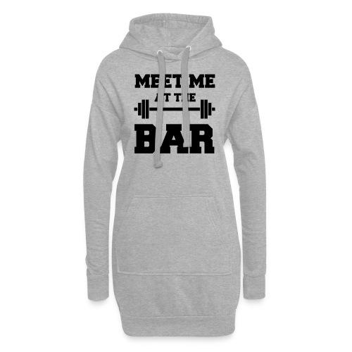 MEET ME AT THE BAR für Fitness-Geeks - Hoodie-Kleid