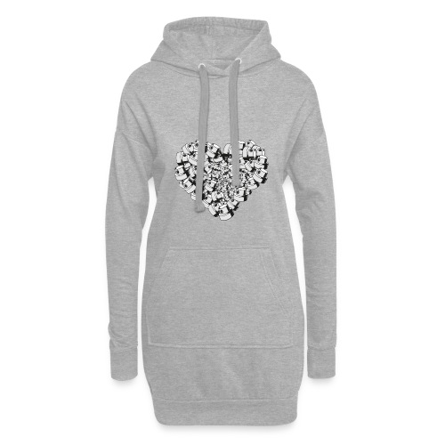 heart for art street love - Hoodie-kjole