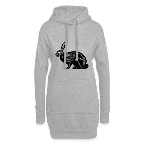 konijn skelet - Hoodiejurk