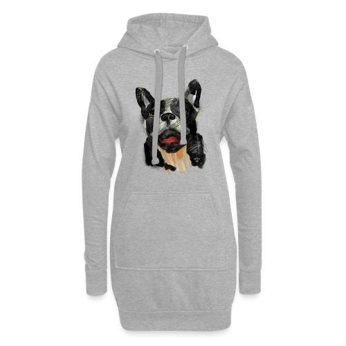 French Bulldog Portrait - lebendig und urban - Hoodie-Kleid
