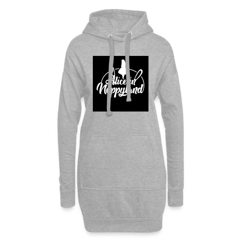 Alice in Nappyland TypographyWhite 1080 - Hoodie Dress