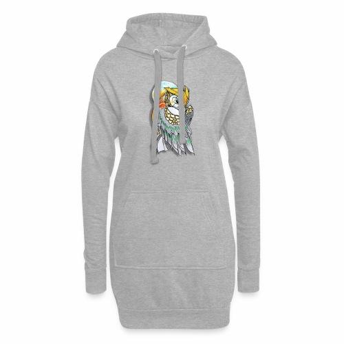 Cosmic owl - Sudadera vestido con capucha