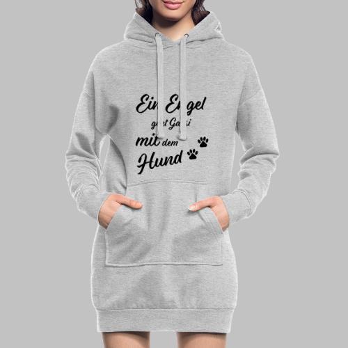 EIN ENGEL GEHT GASSI MIT DEM HUND - V2 - Black - Hoodie-Kleid