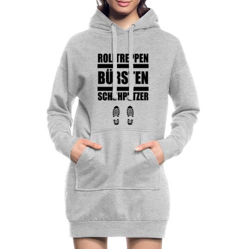 Rolltreppenbürstenschuhputzer - Hoodie-Kleid