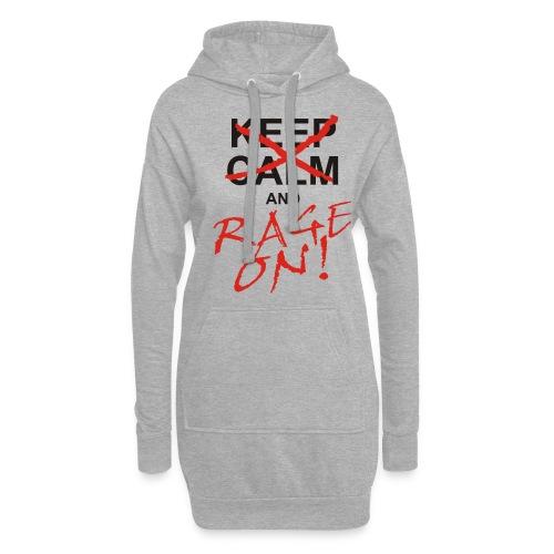 KEEP CALM and RAGE ON black - Hoodie-Kleid