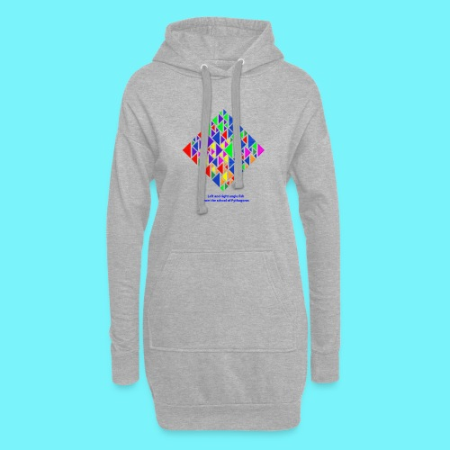 Left and right angle fish, school of Pythagoras - Hoodie Dress