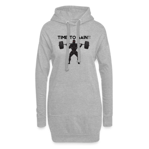 TIME TO GAIN! by @onlybodygains - Hoodie Dress