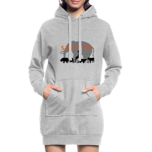 Animaux - Sweat-shirt à capuche long Femme