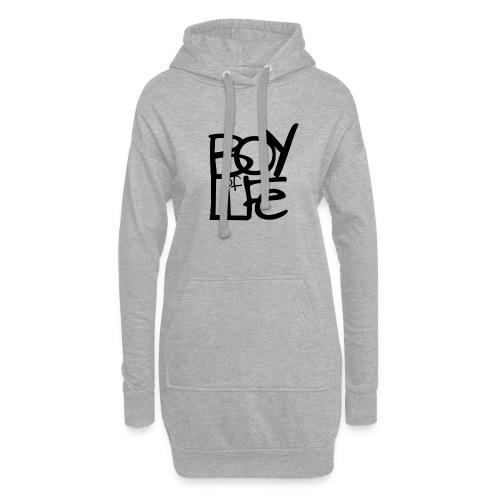 Boy of Life Logo black - Hoodie-Kleid