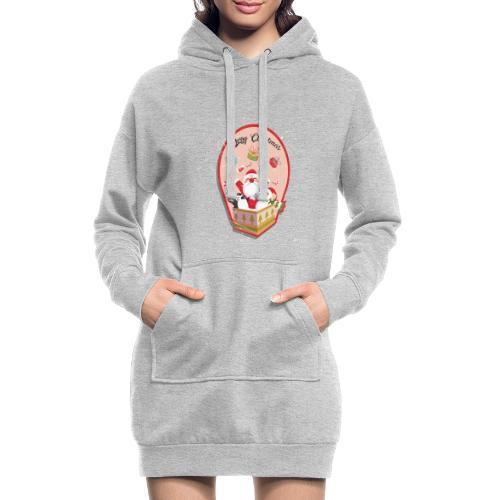 Merry Chrismas1 - Sweat-shirt à capuche long Femme