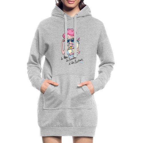 Rhum, hommes & licornes - Sweat-shirt à capuche long Femme