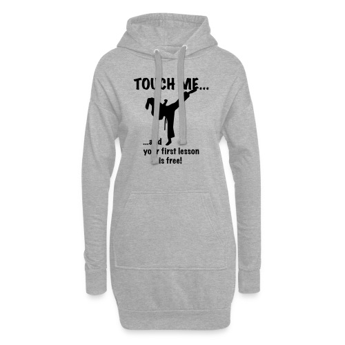 touch me for free lesson - Hoodie-Kleid
