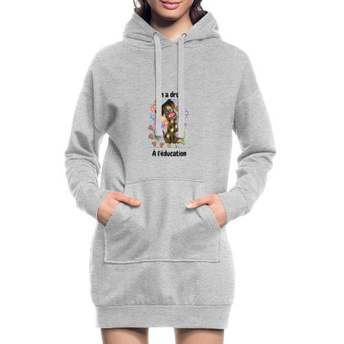 On a droit à l'éducation - Sweat-shirt à capuche long Femme