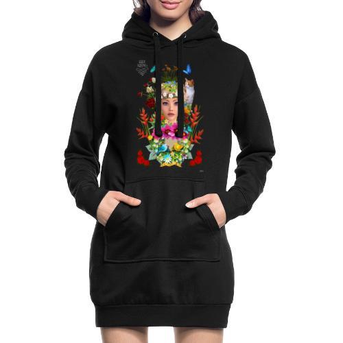 Lady spring by t-shirt chic et choc (dark & black) - Sweat-shirt à capuche long Femme